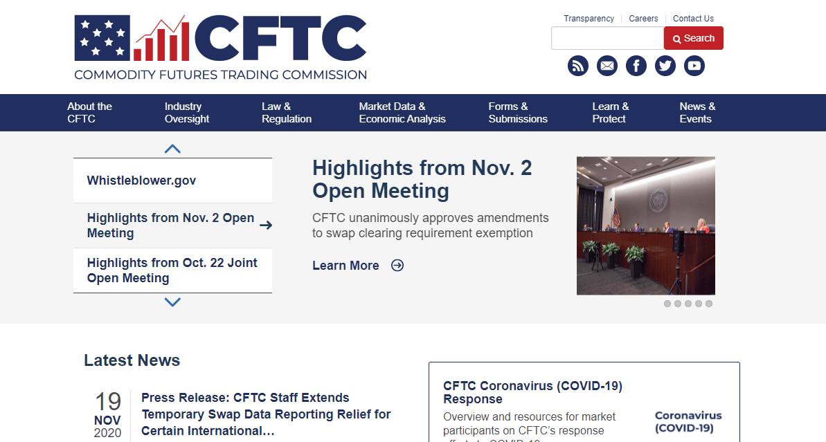 US CFTC website