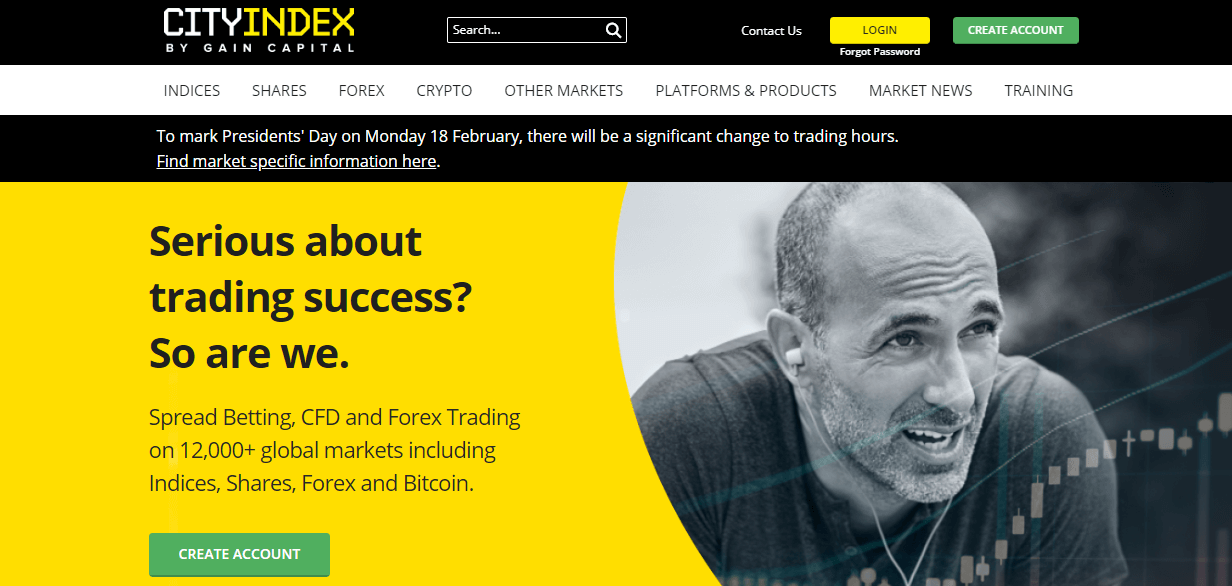 CIty Index website