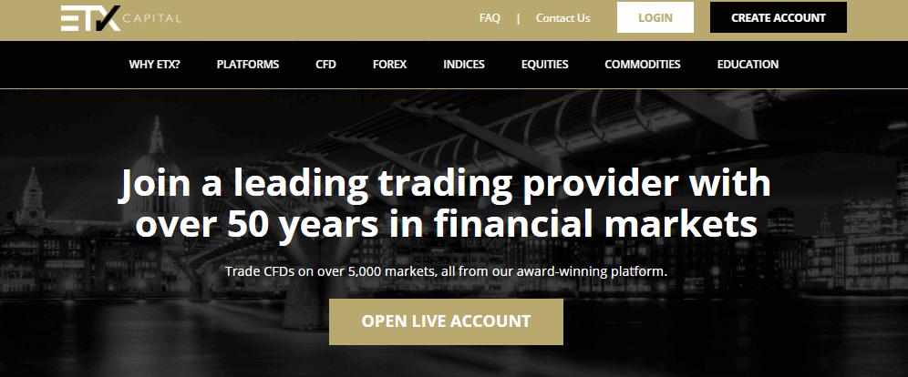 ETX Capital website