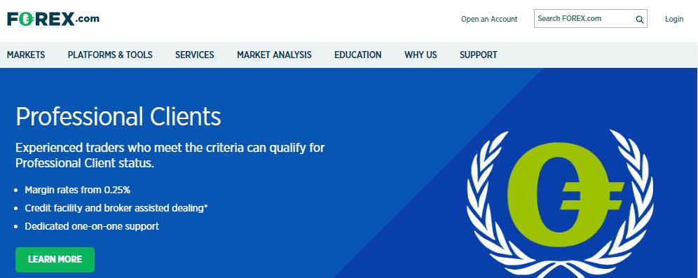 Forex.com website