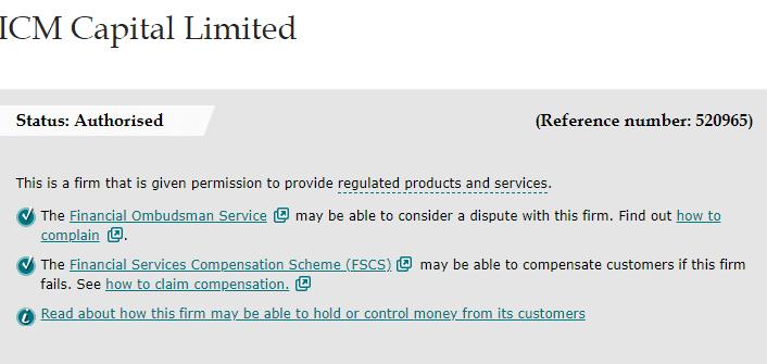 ICM Capital registration