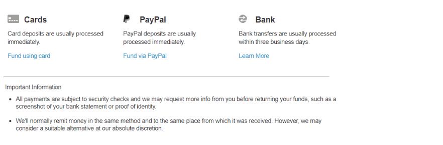 IG Deposits