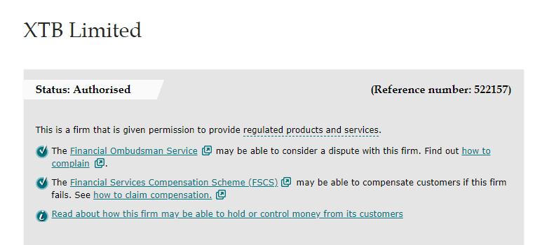 Regulación XTB