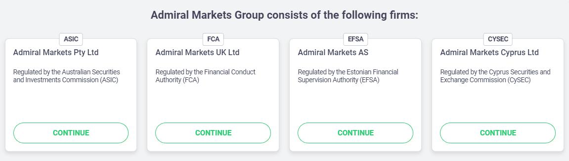 Admiral markets licenses