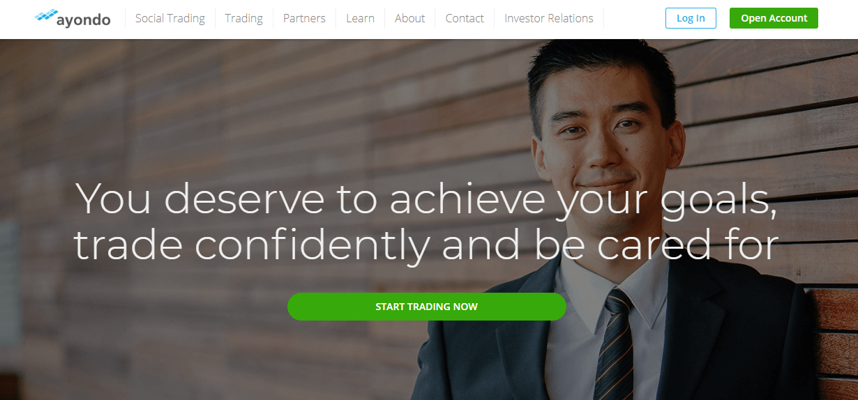 Ayondo website