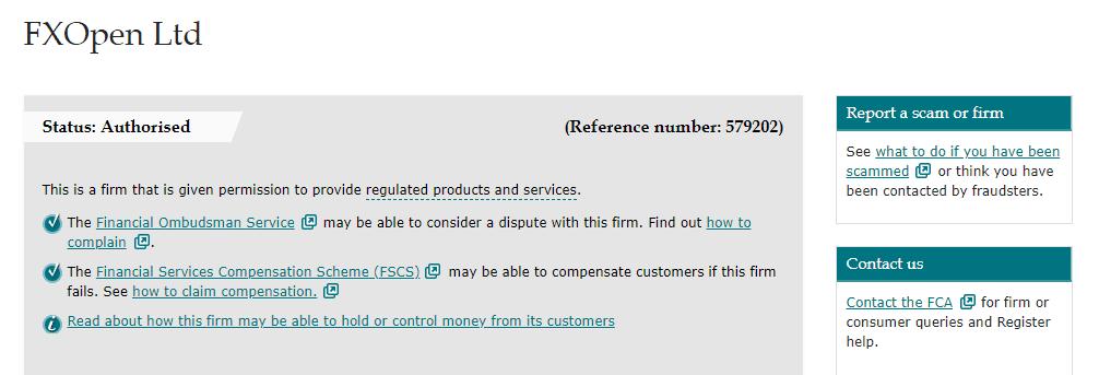 FXOpen license