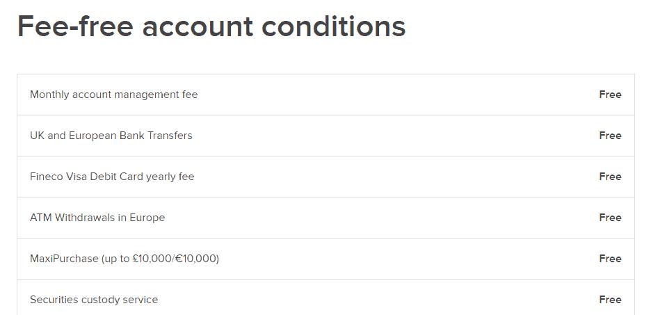 Fineco Bank account