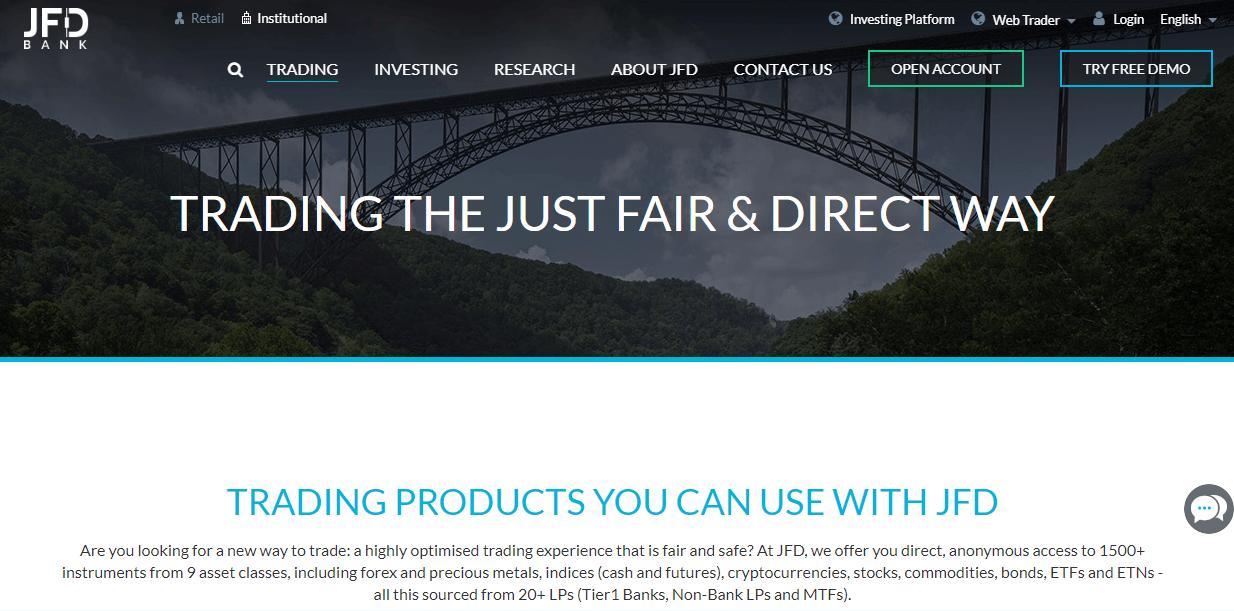 JFD Brokers website