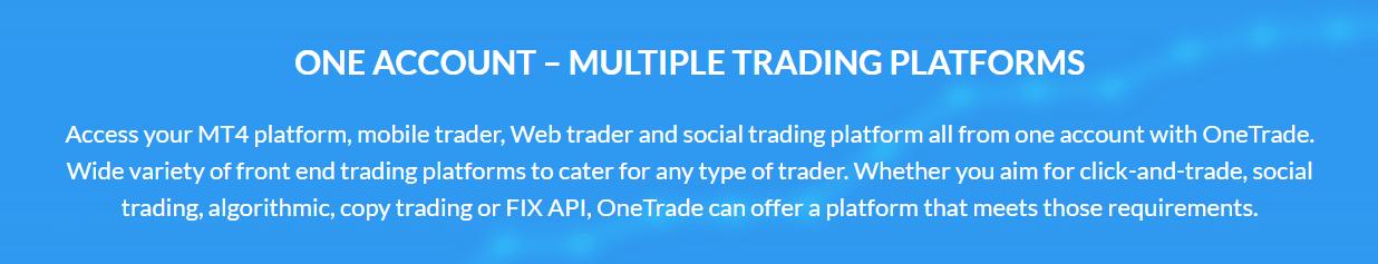 One Trade accounts