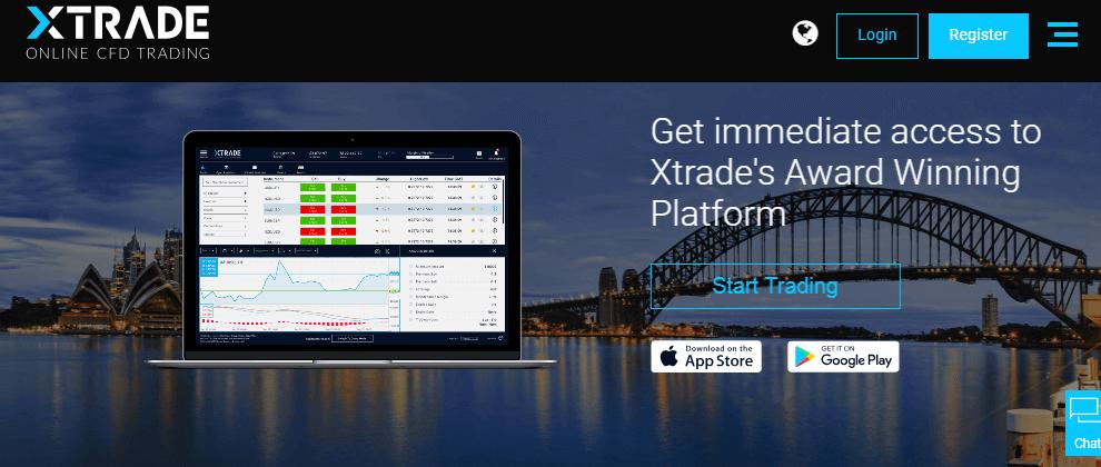 Xtrade website