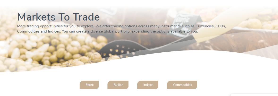 Hantec Markets instruments
