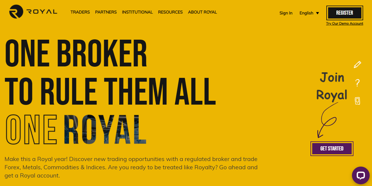 Royal Financial Trading website