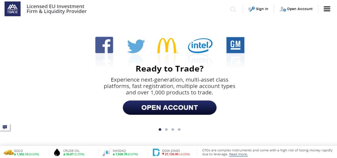 AAATrade website