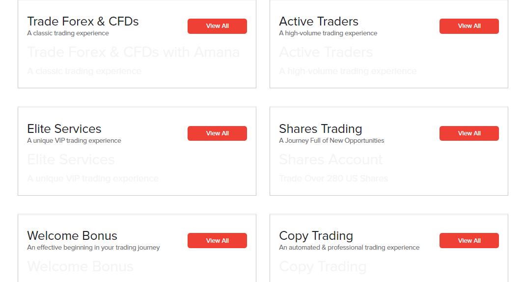 Amana Capital accounts