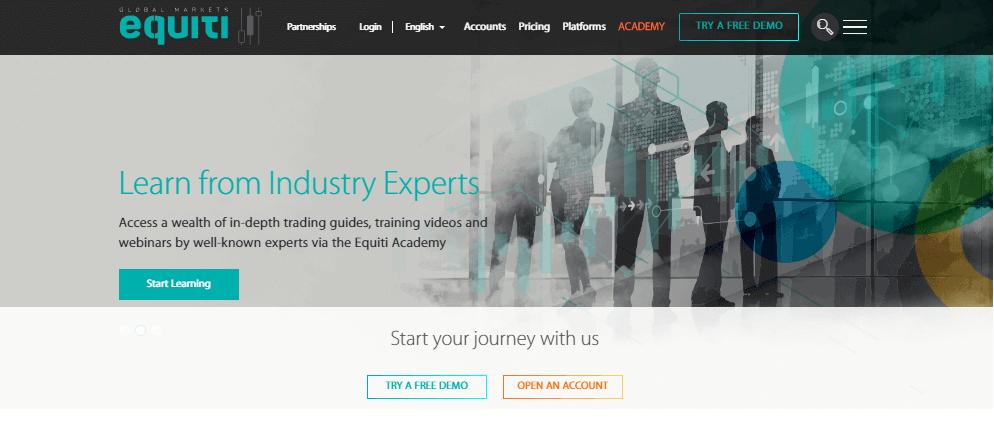 Equiti website