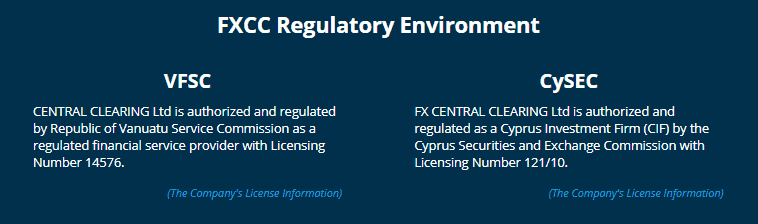 FXCC regulation