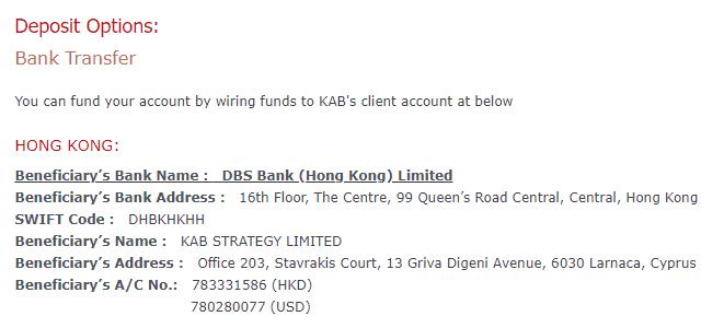 KAB deposit