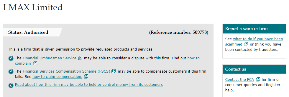 LMAX license