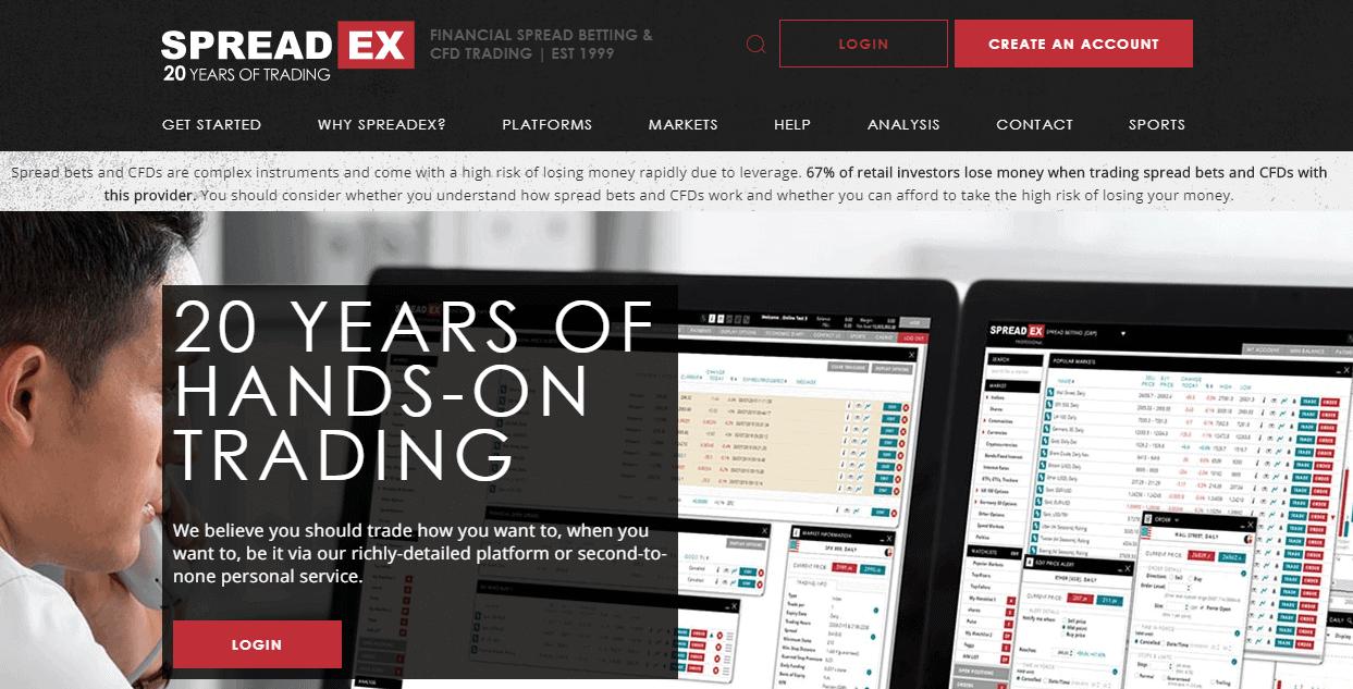 Spreadex website