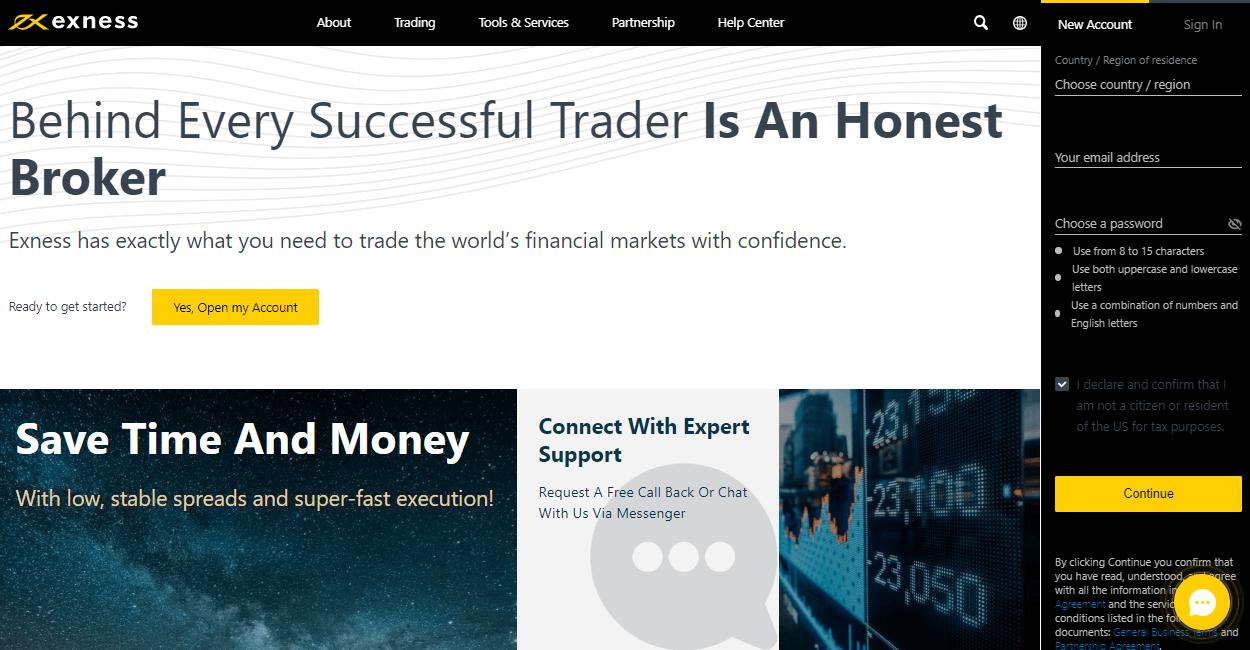 Exness website