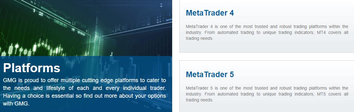 GMG Markets platform