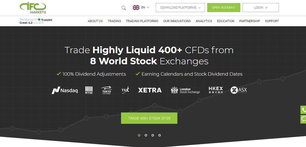 IFC Markets website