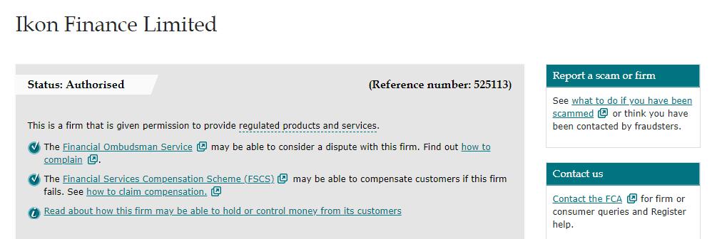Ikon Finance license
