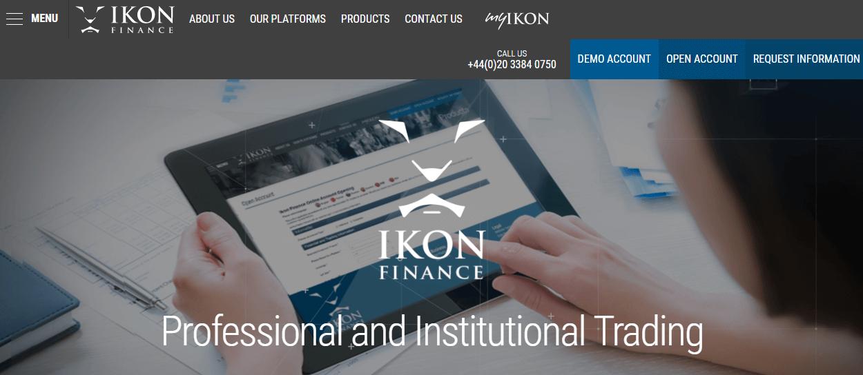 Ikon Finance website