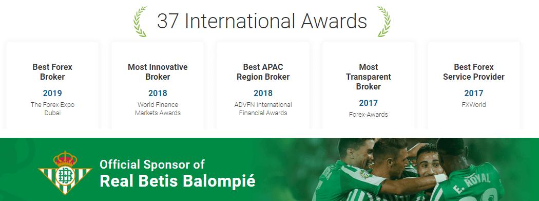 easyMarkets awards