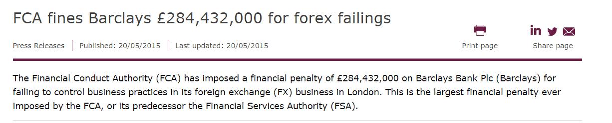 FCA fines Barclays