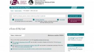 FCA Brokers register