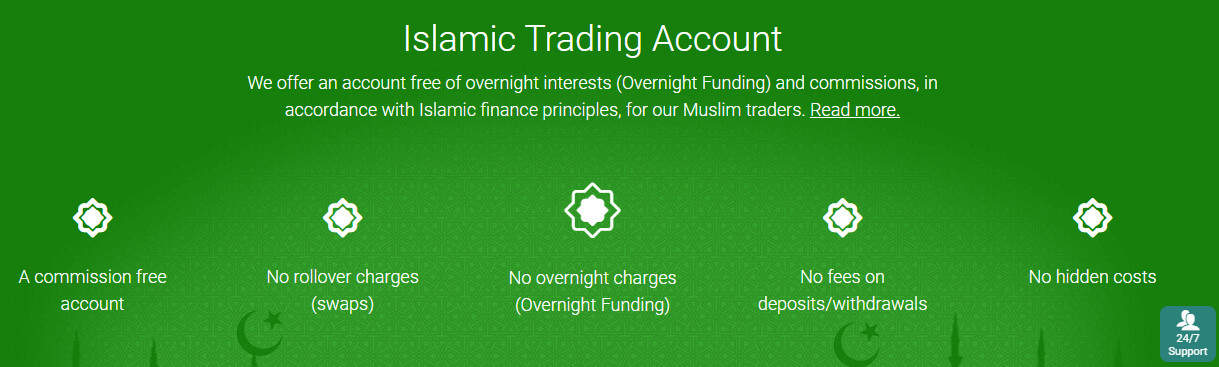 Plus500 islamic account