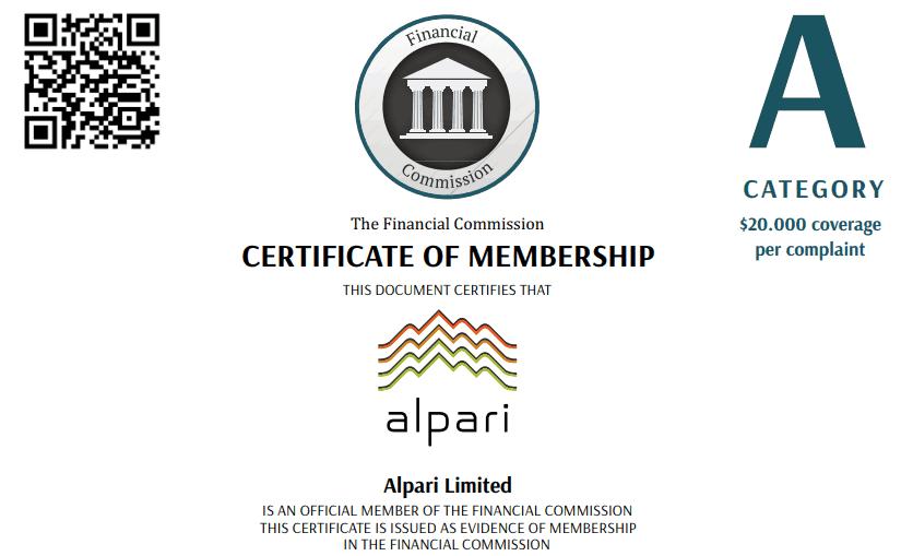Alpari certificate