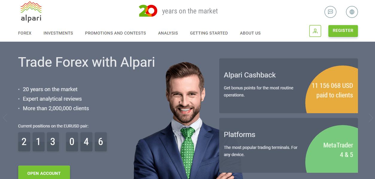 Alpari website