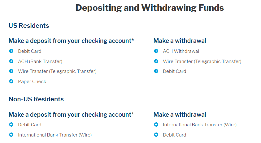 Nadex deposit