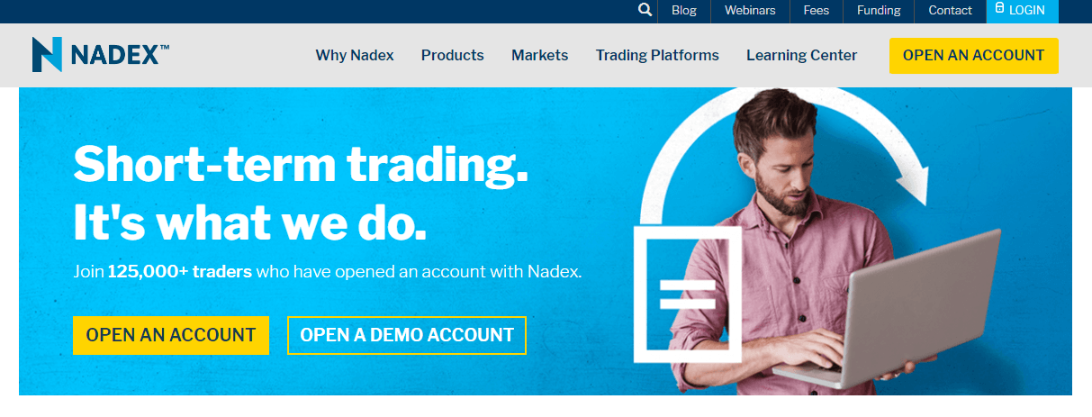 Nadex website
