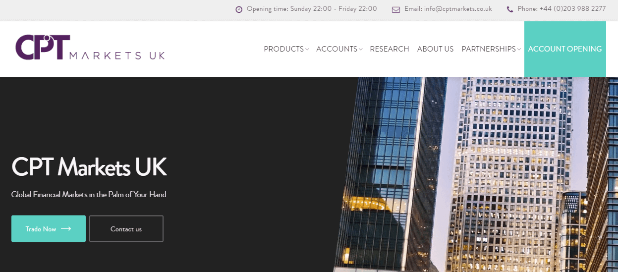 CPT Markets UK website