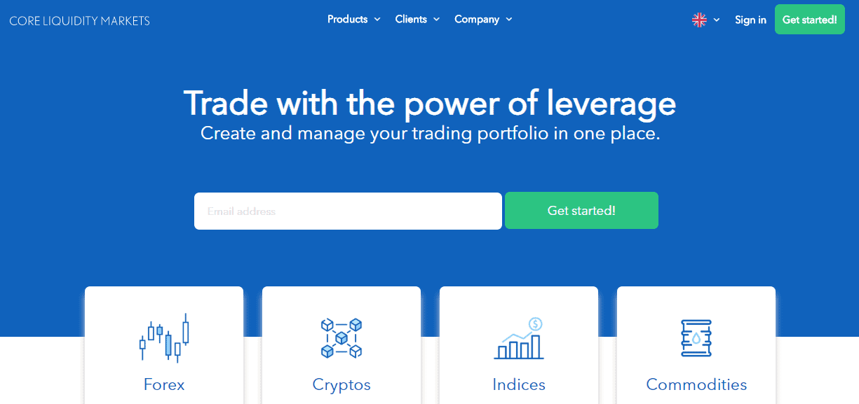 Core Liquidity Markets CLM website
