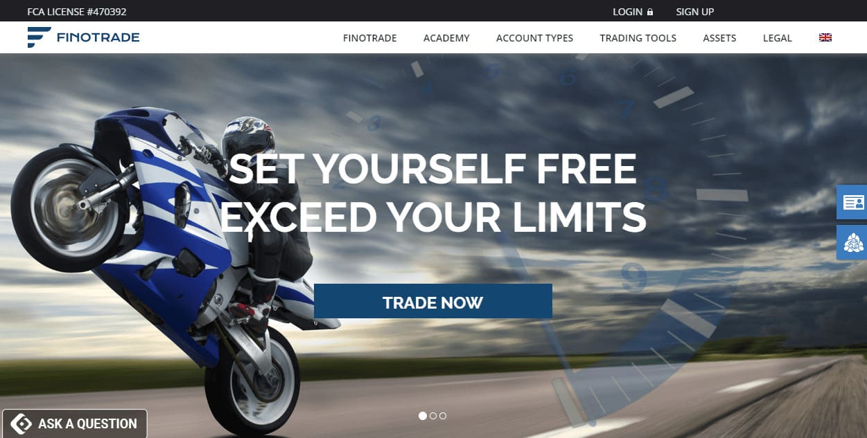 Finotrade website