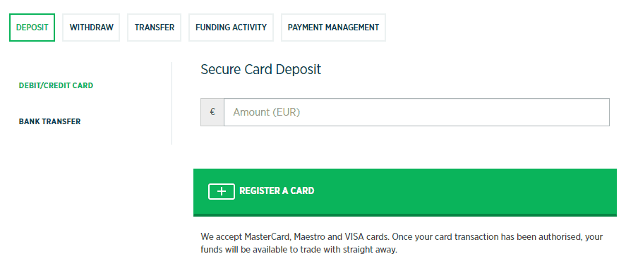 Finspread deposit