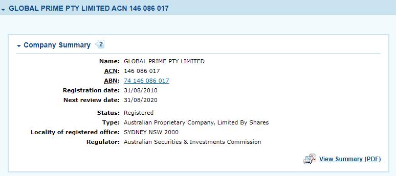 Global Prime license