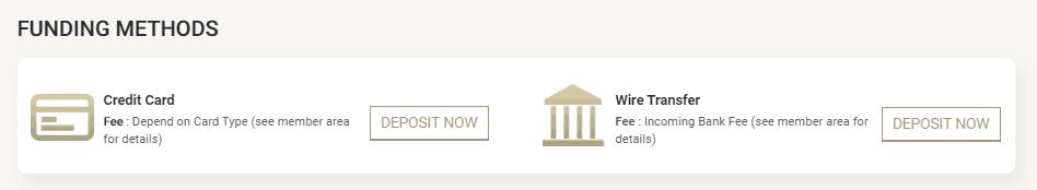 House of Borse funding methods