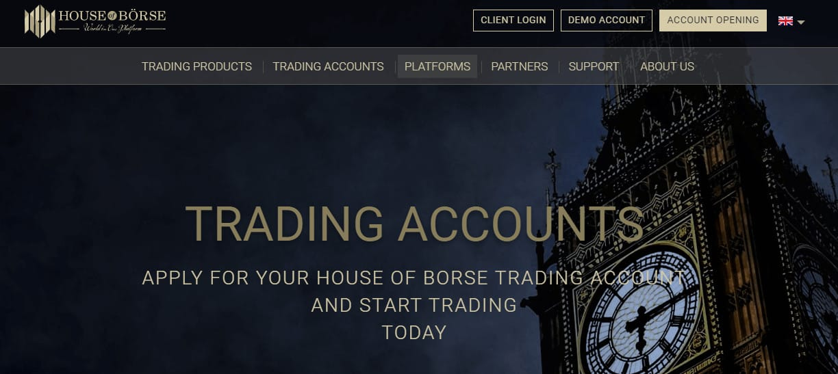 House of Borse website