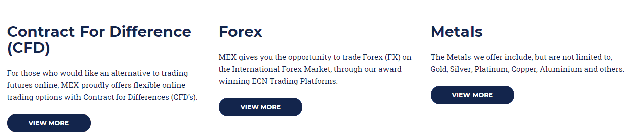 MEX Exchange instruments