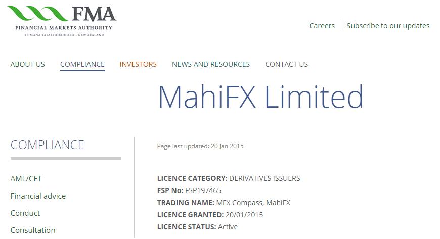 MahiFX license