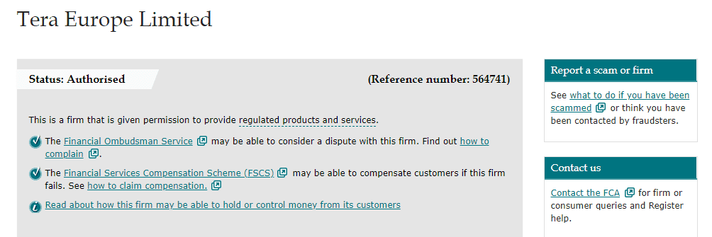 TeraFX license