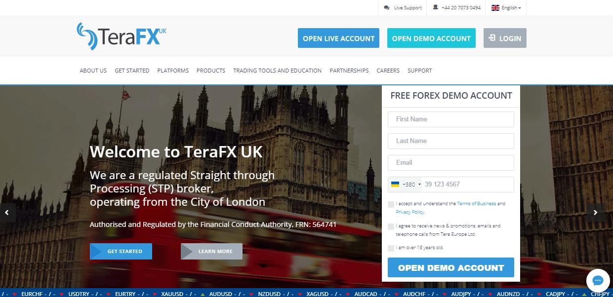 TeraFX website
