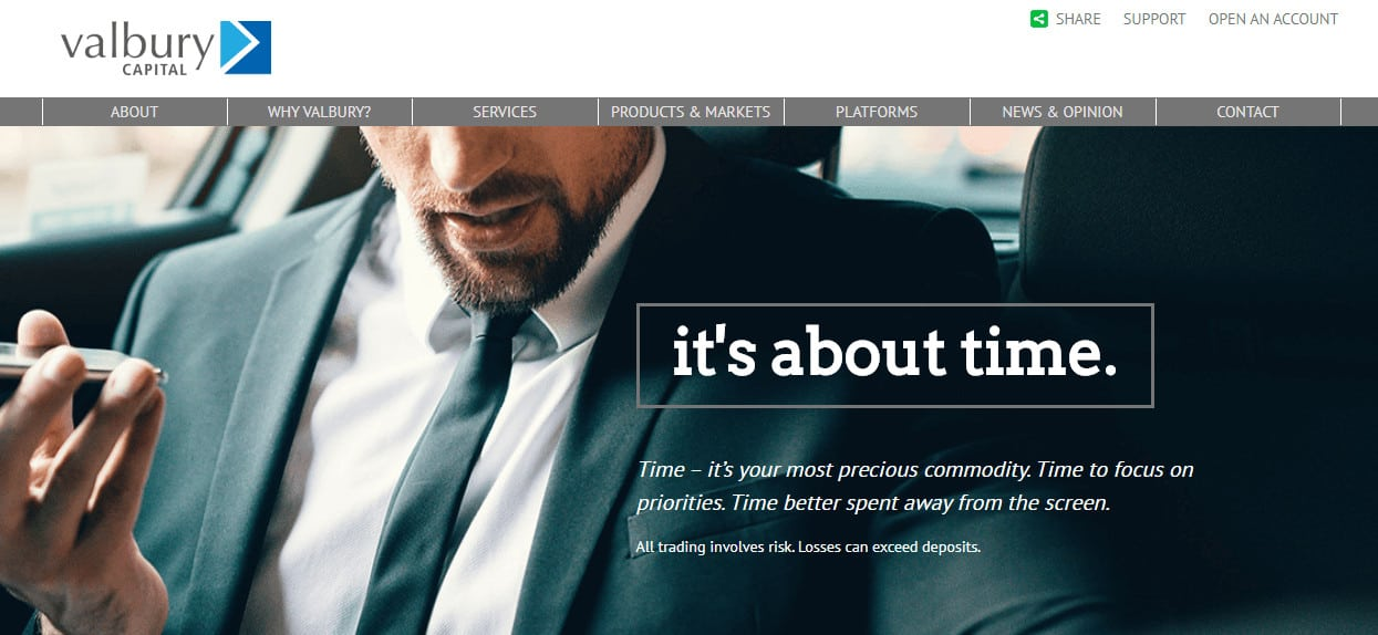 Valbury Capital website