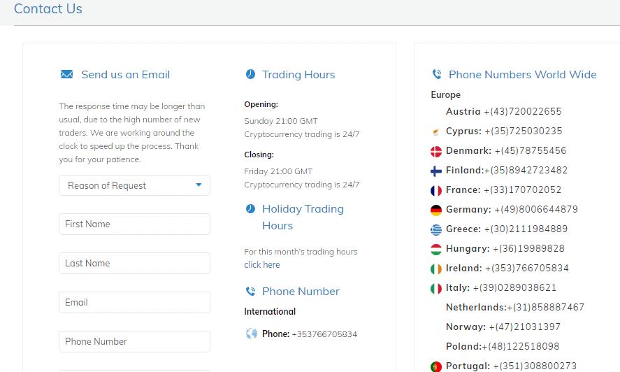AvaTrade customer support