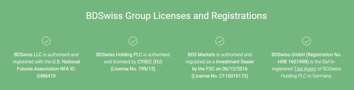 BDSwiss license